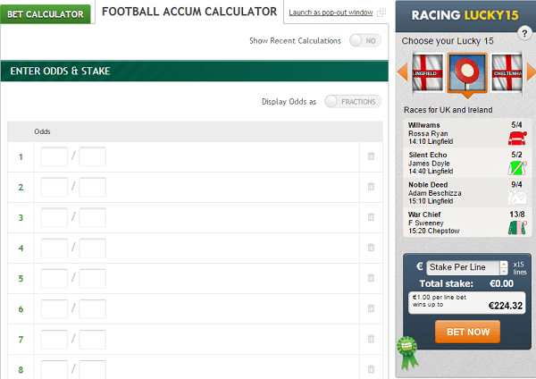 Football Bet Calculator