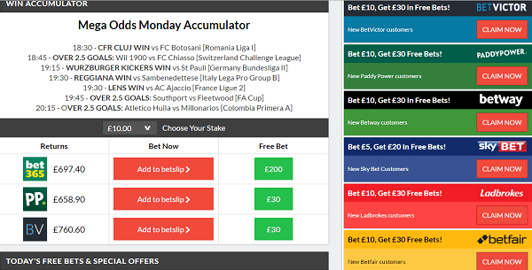Football Betting Tips Accumulator