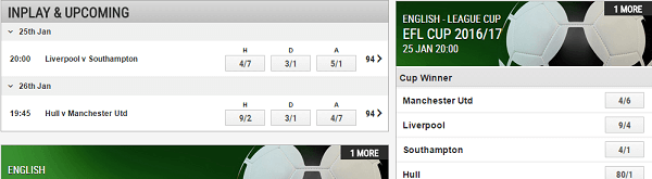 Ladbrokes Football Odds Today
