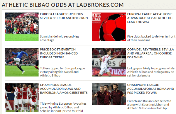 Ladbrokes Football Odds Tonight
