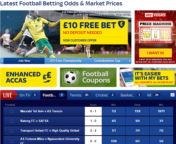 Latest Football Betting