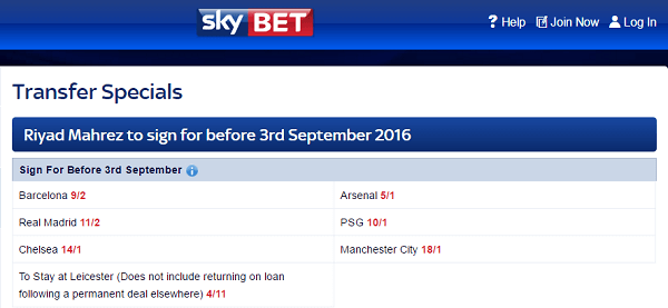 skybet football transfers
