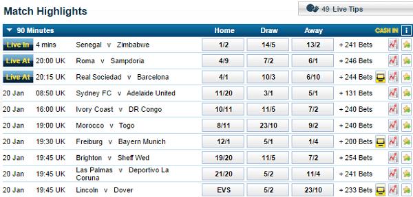 William Hill Football Odds Calculator