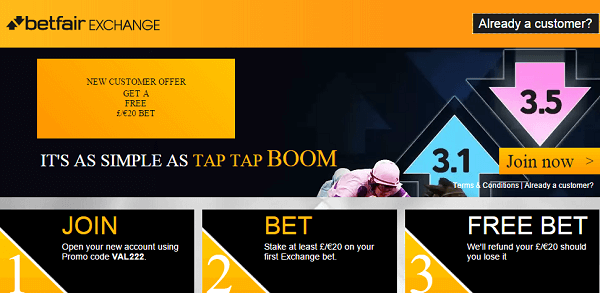 Betfair Sign Up Bonus Football