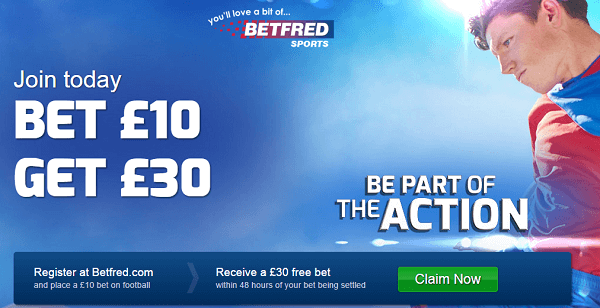 Betfred No Deposit Football Bonus