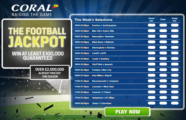 coral football betting rules