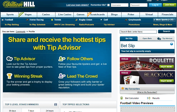 Tip Advisor at William Hill Football
